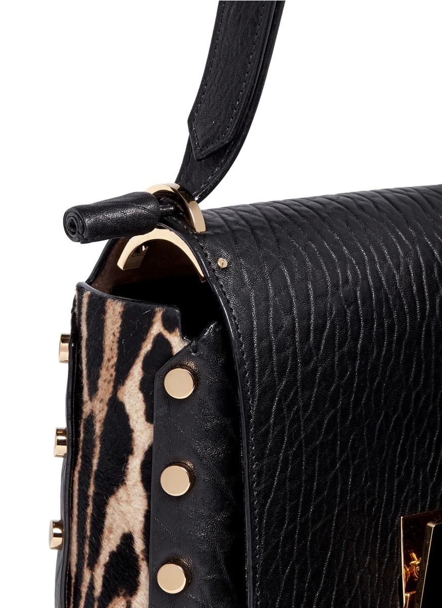 e29302d946c Jimmy Choo 'lockett Xb' Leopard Print Pony Hair Trim Leather Bag in ...