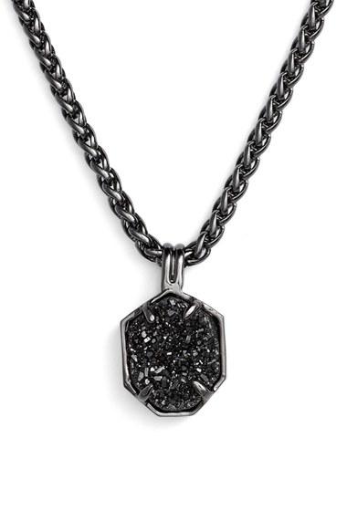 Lyst Kendra Scott Oliver Pendant Necklace Gunmetal