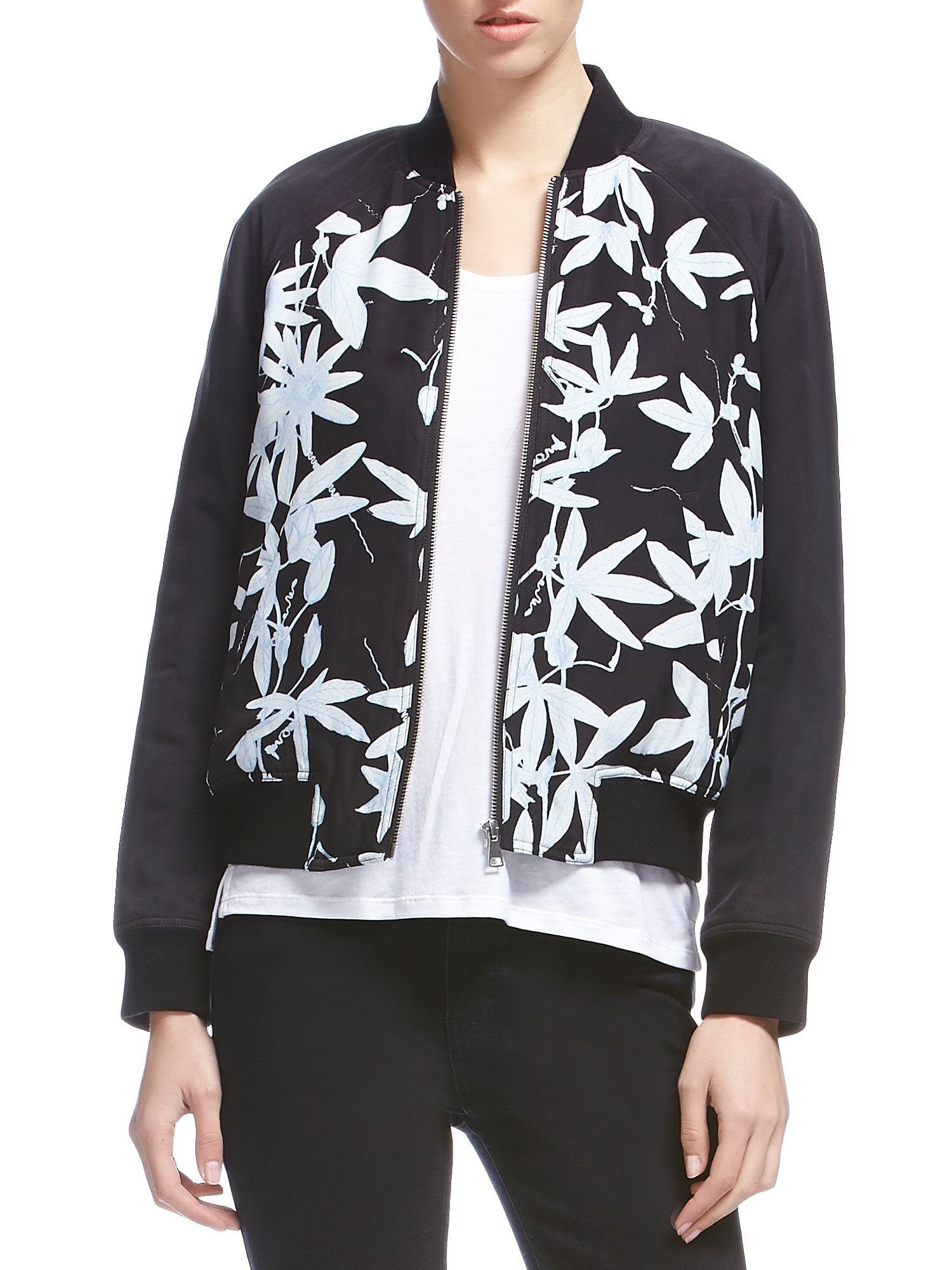 Silk bomber jacket whistles