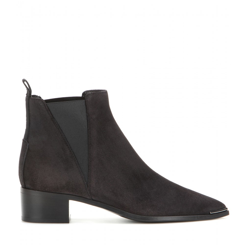 acne studios jensen suede ankle boots in black lyst. Black Bedroom Furniture Sets. Home Design Ideas