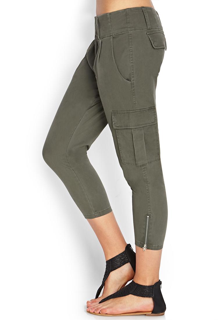 Army Green Capri Pants | Gpant