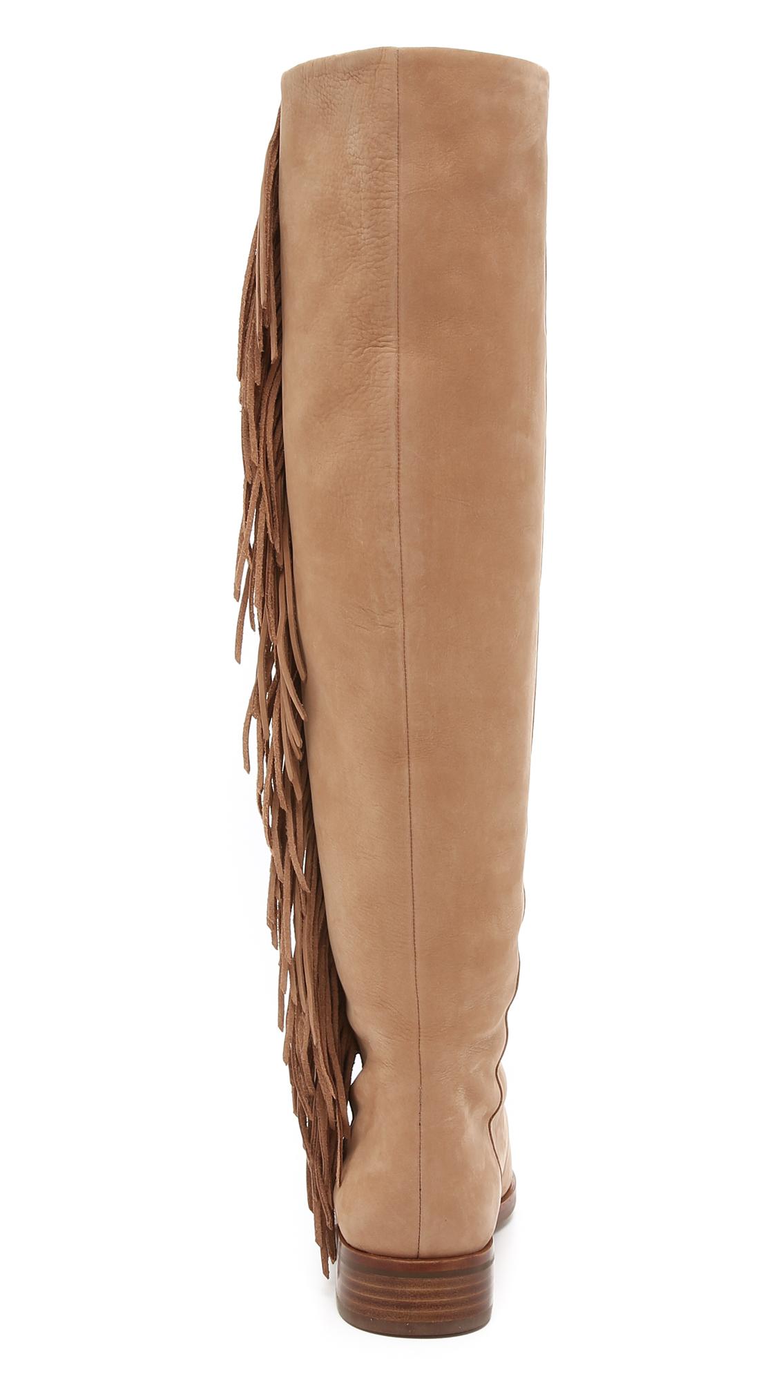 1b9c53742c1be Sam Edelman Josephine Fringe Boots in Brown - Lyst