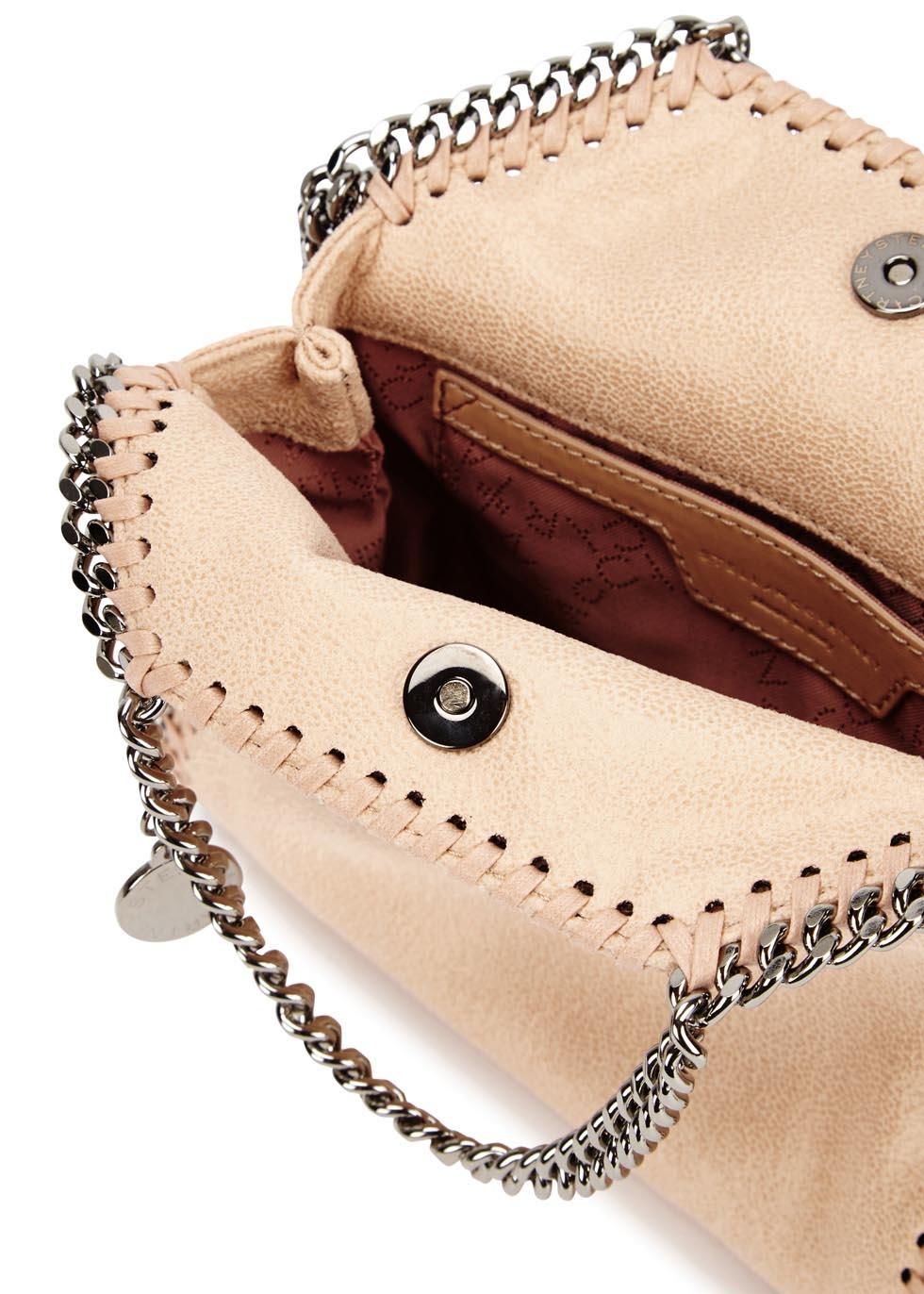Stella McCartney Falabella Tiny Blush Faux Suede Shoulder Bag in ... 7b8c6fa309402