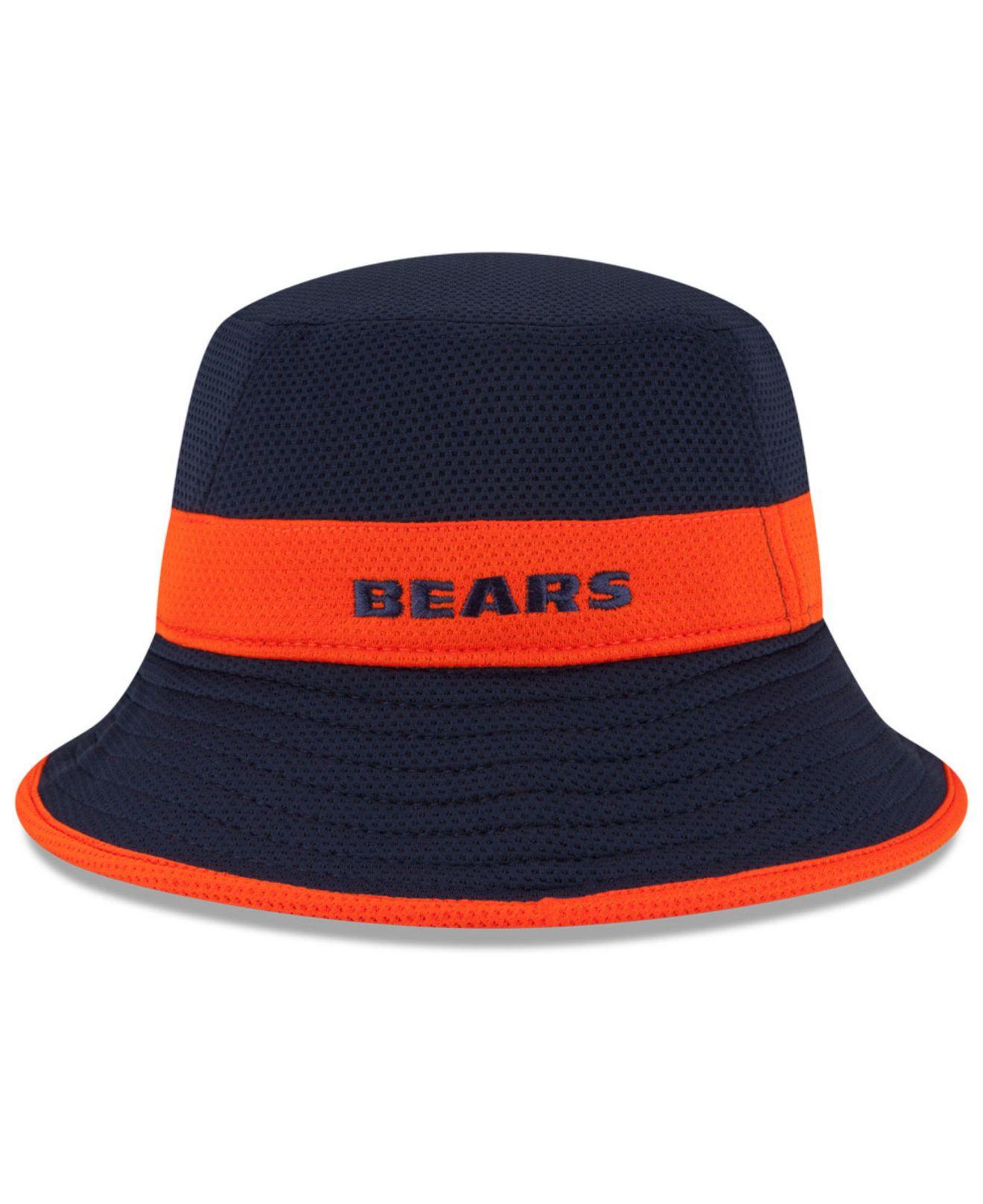 Lyst - Ktz Chicago Bears Training Camp Reverse Bucket Hat in Blue ... 50e10dd05