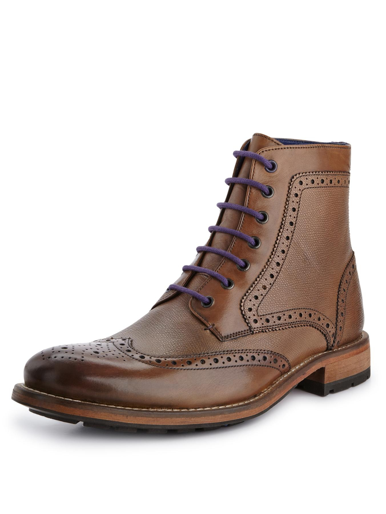 ted baker ted baker sealls mens brogues boots in brown for