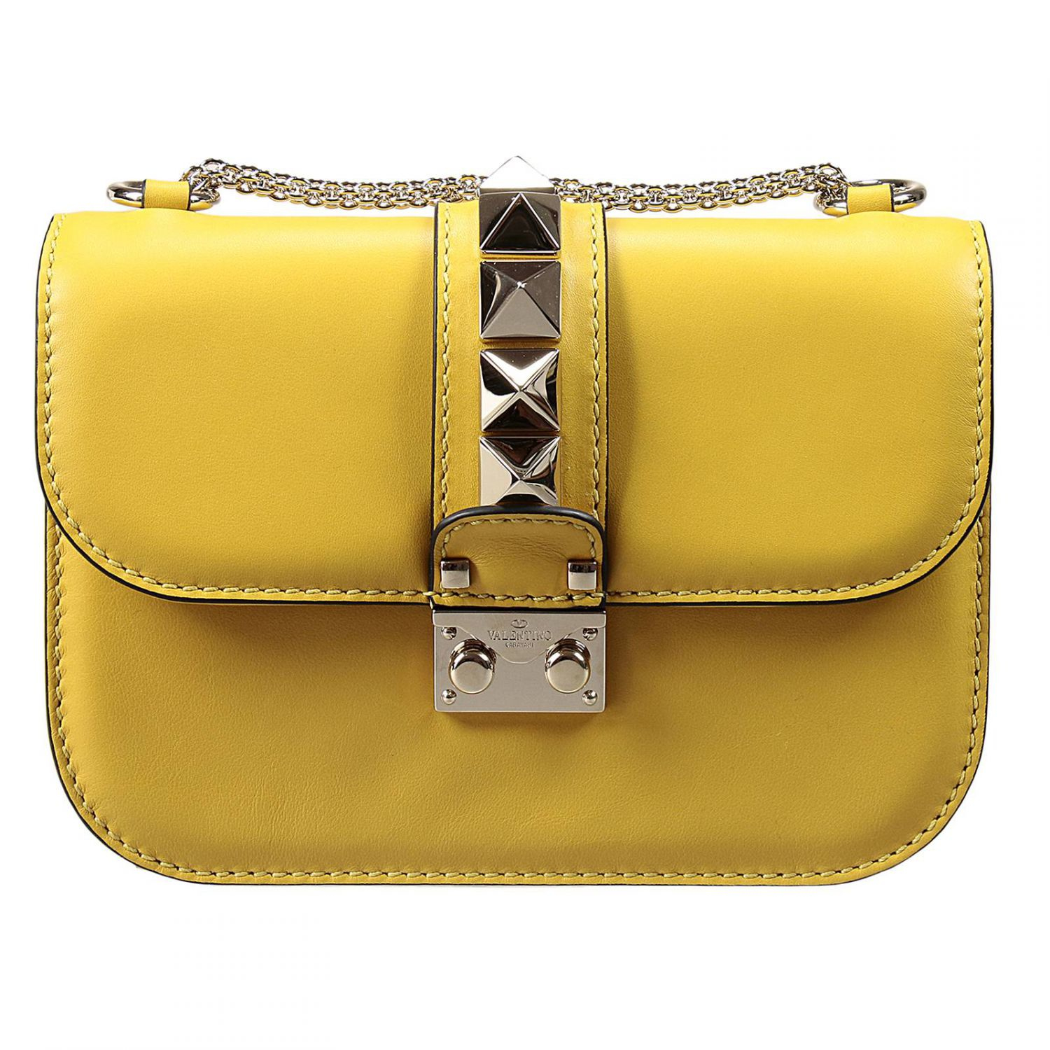 Valentino Handbag In Yellow Lyst