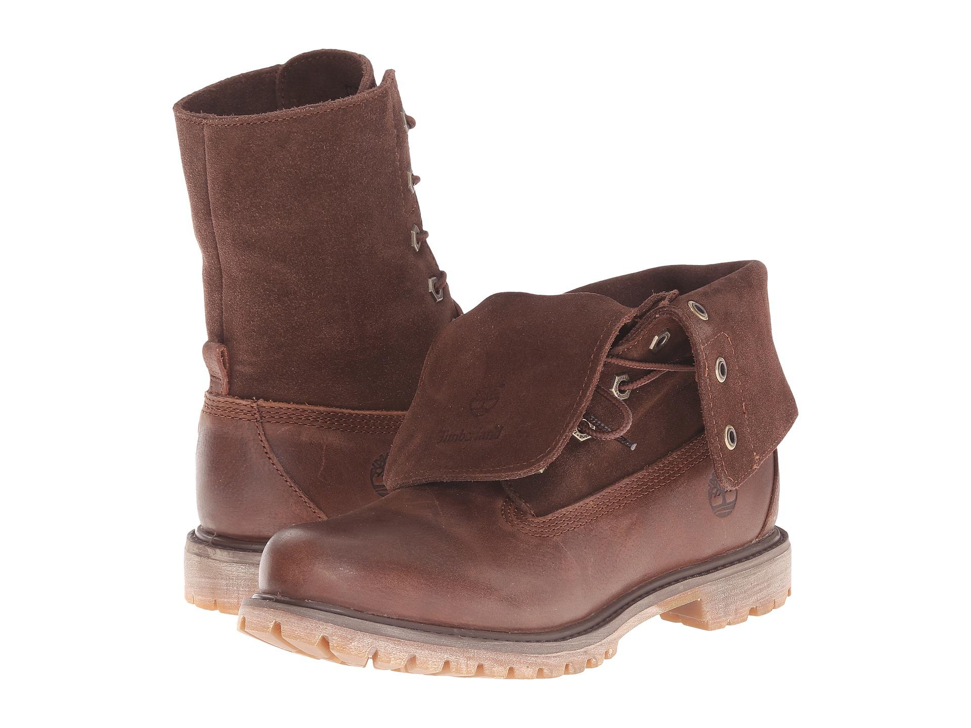 timberland roll top boots dark brown