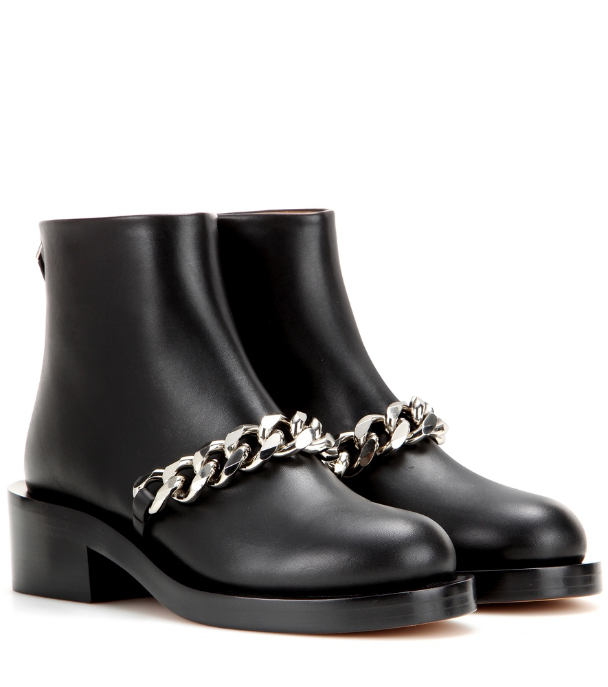 Givenchy Embellished Leather Boots In Black Lyst
