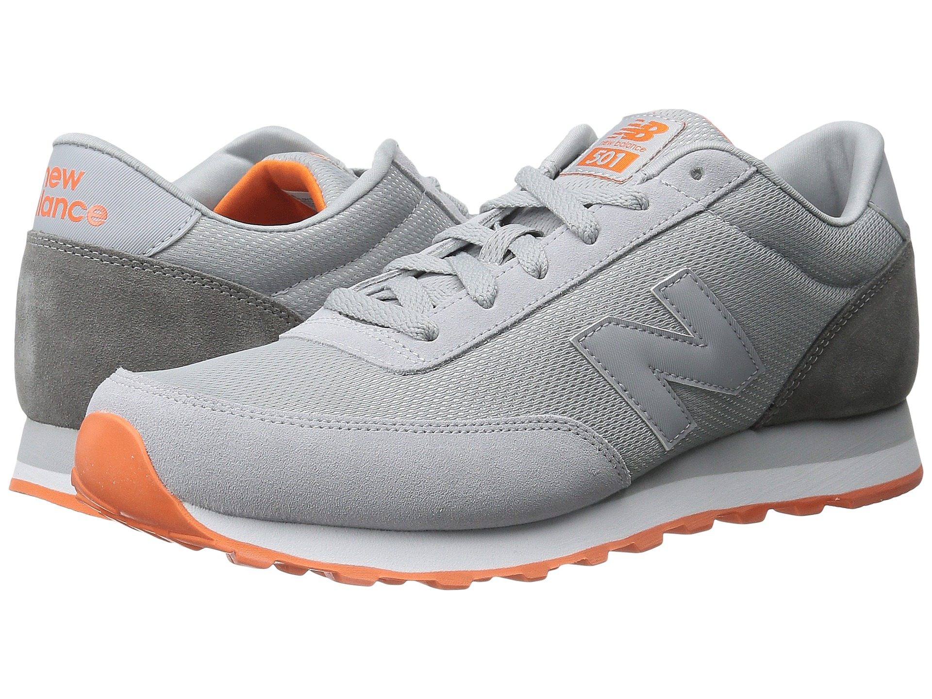 New Balance Classics Wl501 Womens Grey Orange Sneakers