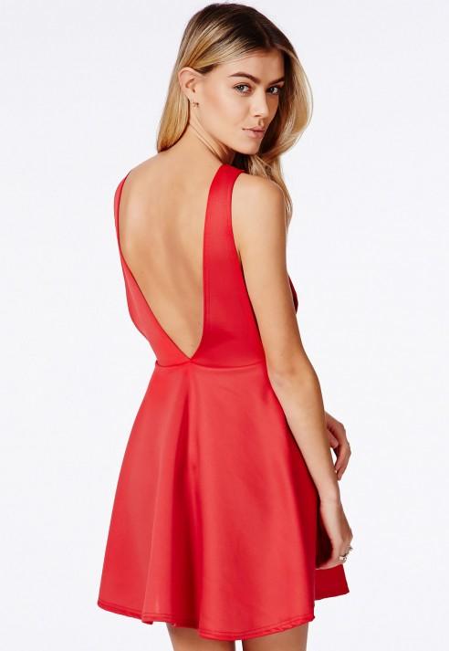 Backless Skater Dress – Fashion dresses e17577f0a