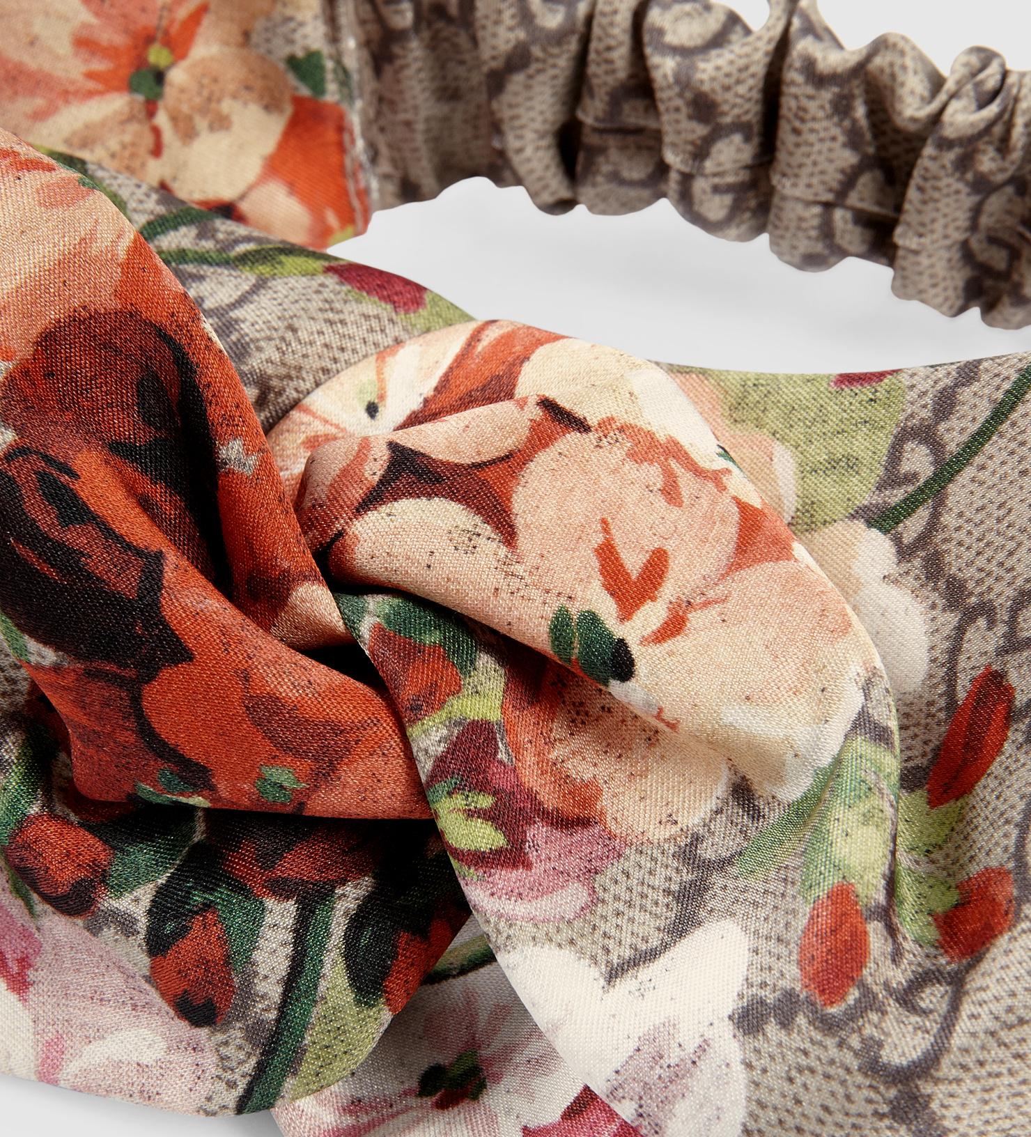 671b42aa6ed576 Gucci Blooms Print Silk Headband in Pink - Lyst