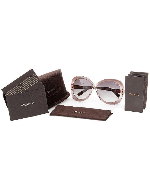 7c438cc80e2c Tom Ford Eyewear Tf226 74b Margot Purple Butterfly Women s ...