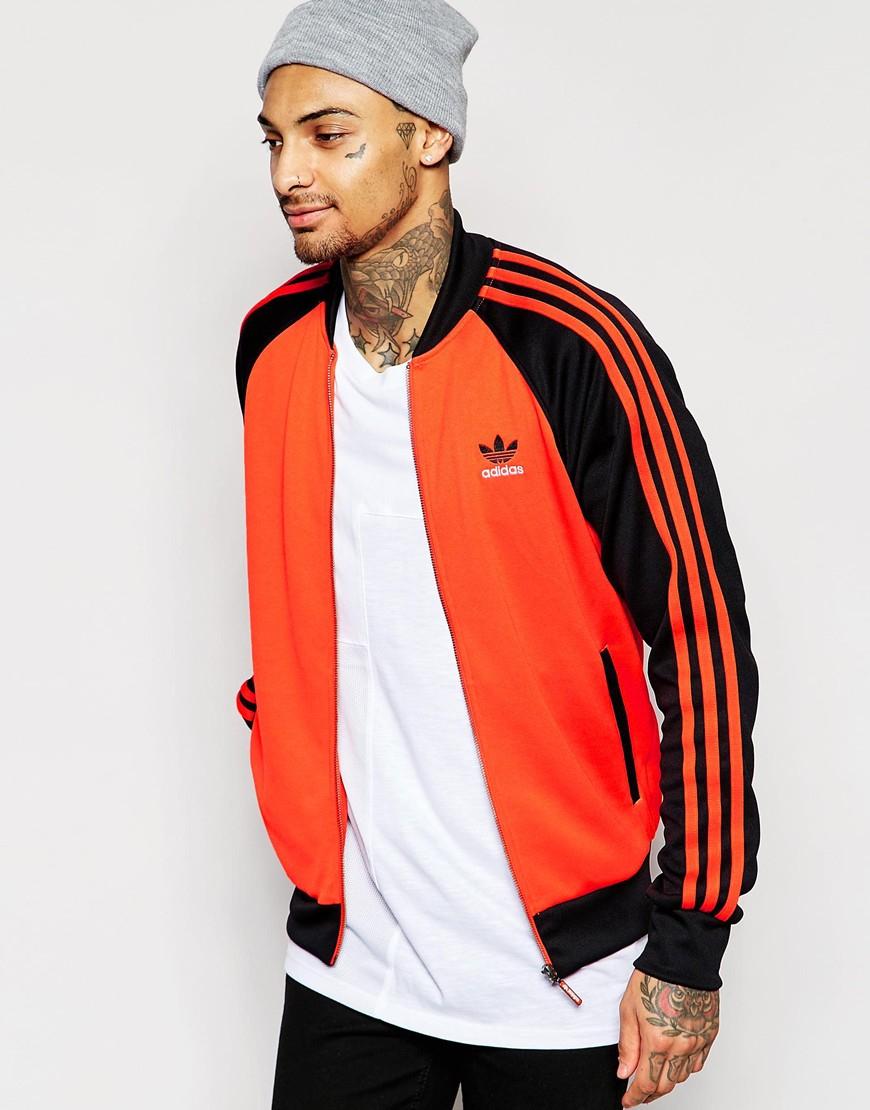 d738047f adidas Originals Superstar Track Jacket Aj7002 in Orange for Men - Lyst
