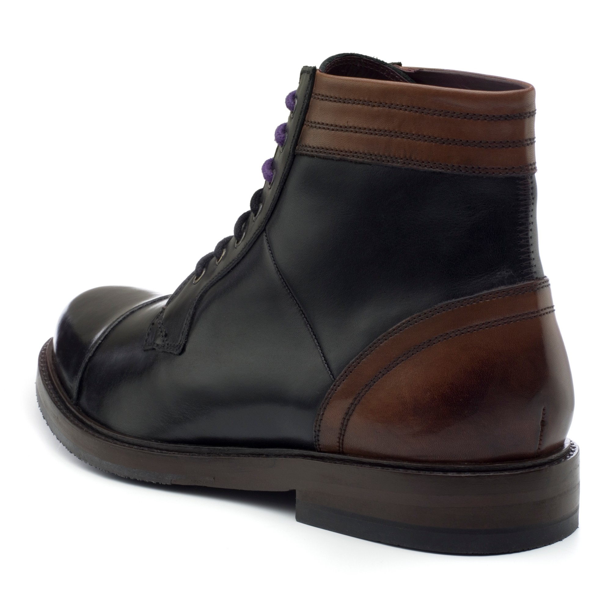c5db8d731cda Ted Baker Musken Leather Ankle Boots in Black for Men - Lyst