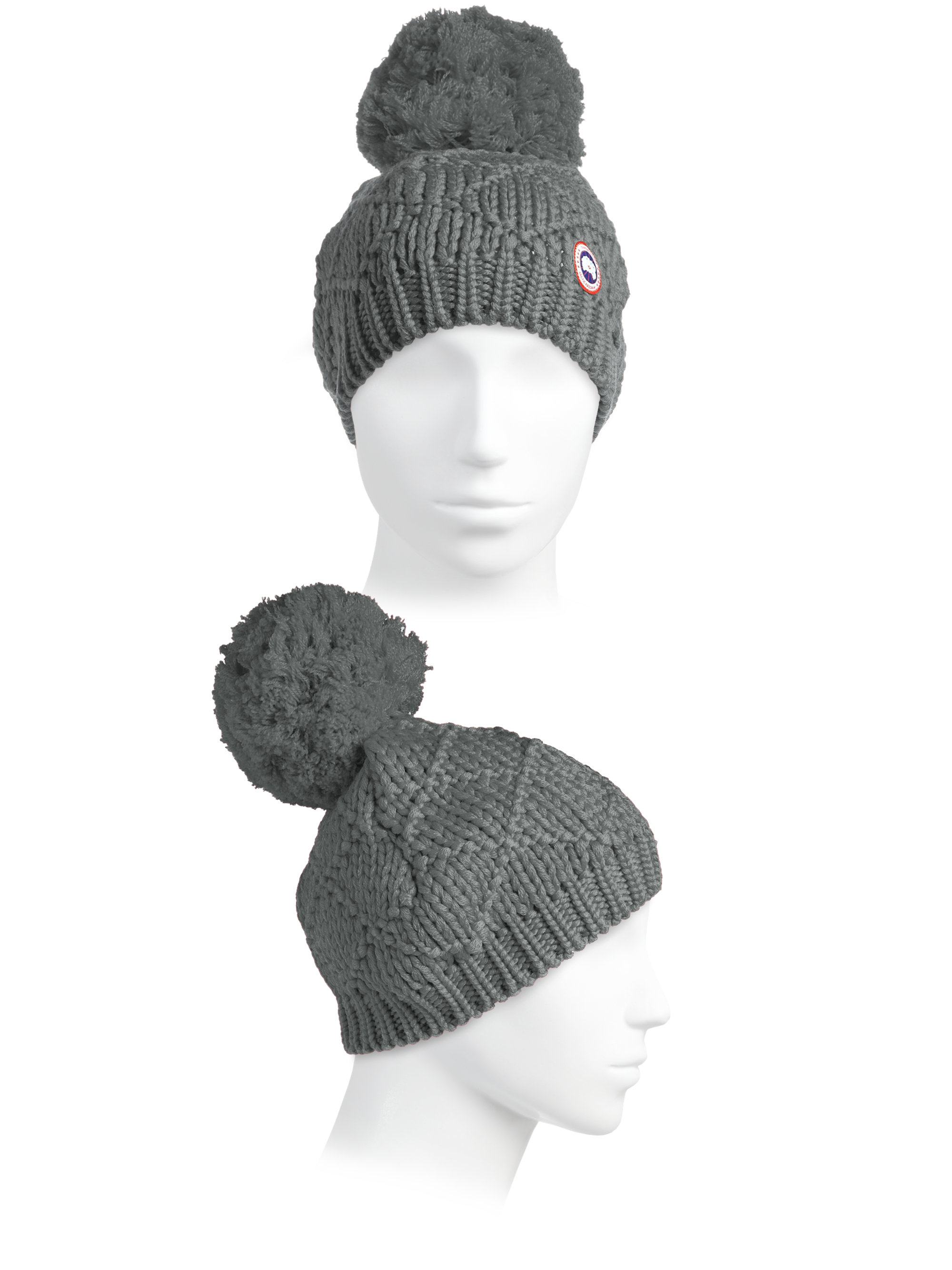 Lyst - Canada Goose Oversized Pom-pom Hat in Gray 62f55db4a9