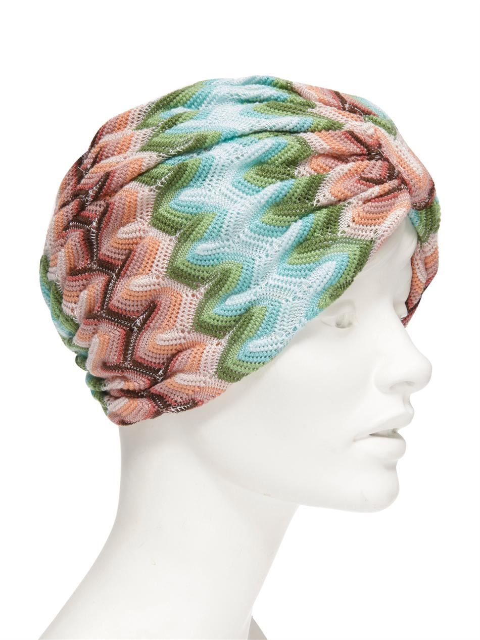 Missoni Sfumato Zigzag Turban in Green