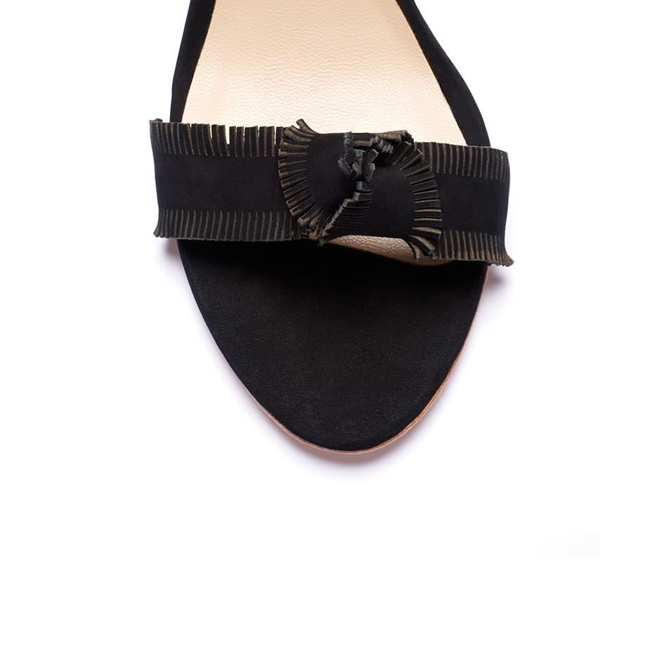 Loeffler randall Nina Ankle tie Kitten Heel in Black