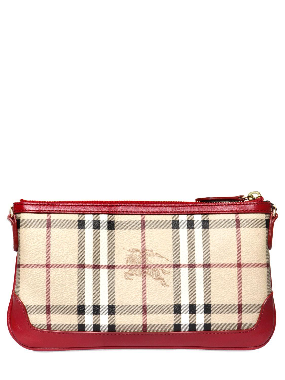 937633a6b0e5 Lyst - Burberry Peyton Haymarket Shoulder Bag in Natural