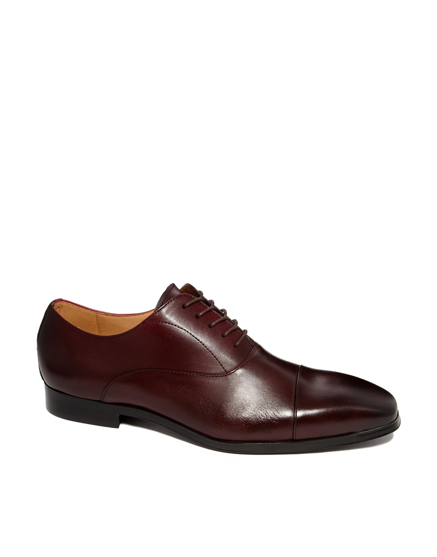 Aldo Mesnier Leather Oxford Shoes In Red For Men | Lyst
