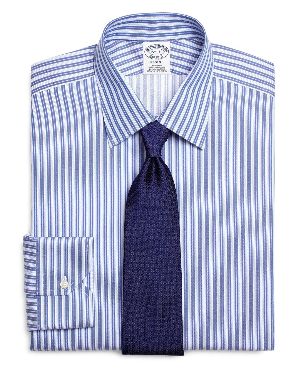 Brooks brothers non iron milano fit bb 10 stripe dress for Brooks brothers non iron shirts review