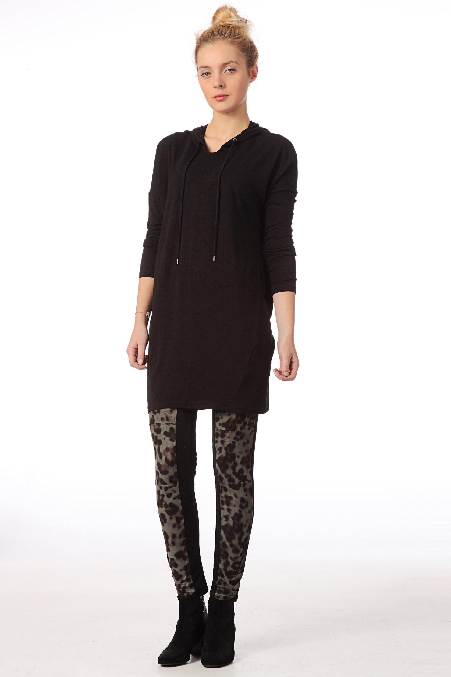 vero moda long sleeve top in black lyst. Black Bedroom Furniture Sets. Home Design Ideas