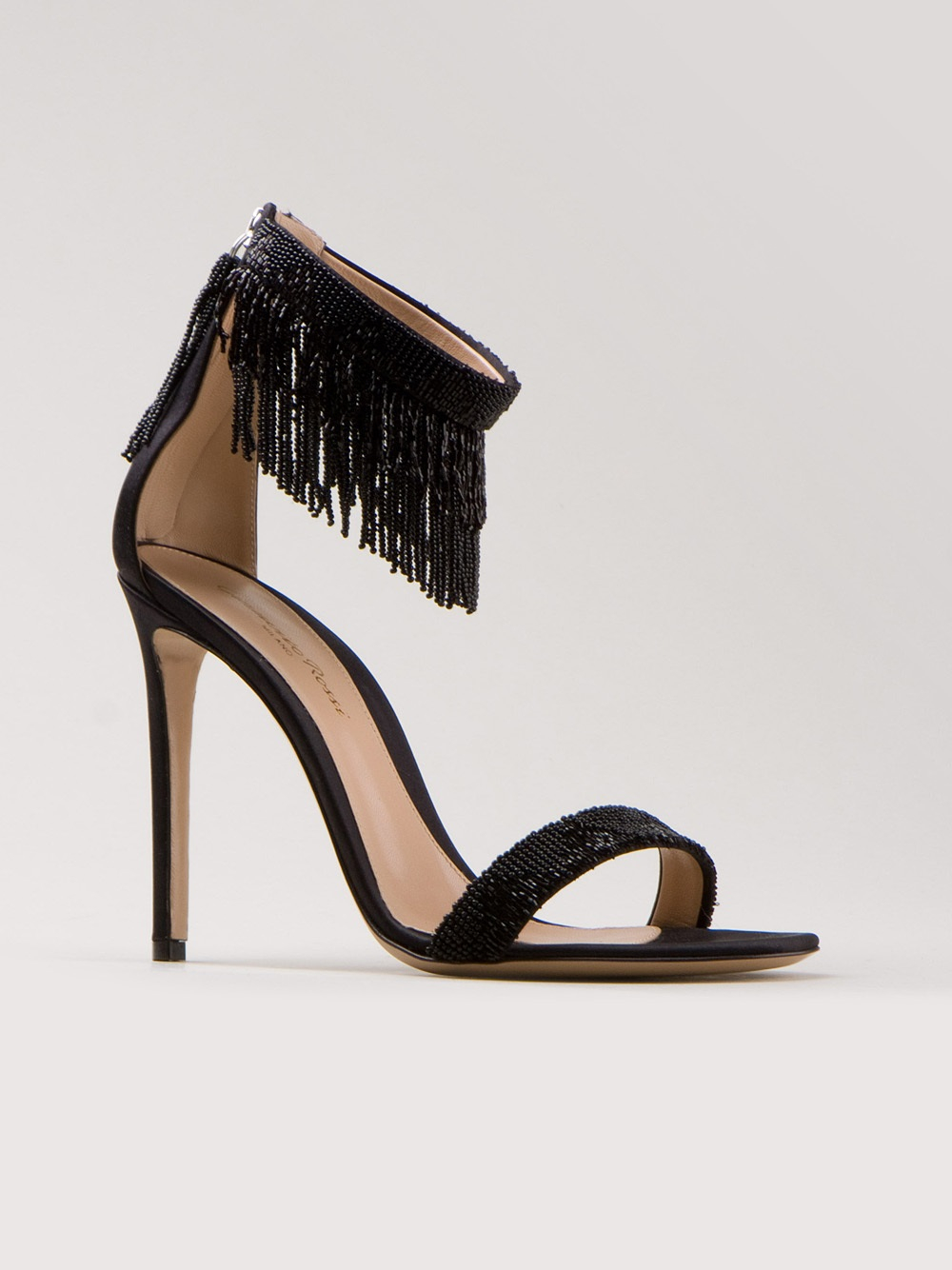 Gianvito Rossi Beaded Fringe Sandals how much cheap online KgCy4