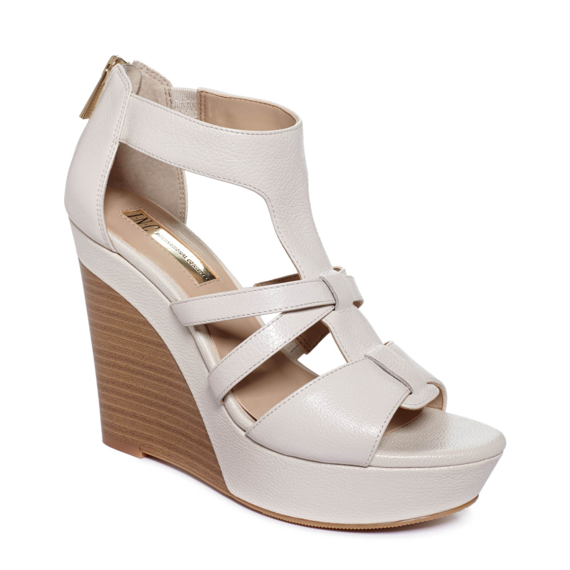 Cool Step Out In Standout Style With An Ankle Strap Mixed With Cutouts And A Sleek Wedge Heel On Alfanis Pella Wedge Sandals Alfani Shoes Are Fashion Forward And The Perfect Shoes To Complement Casual And Wear To Work Clothing For