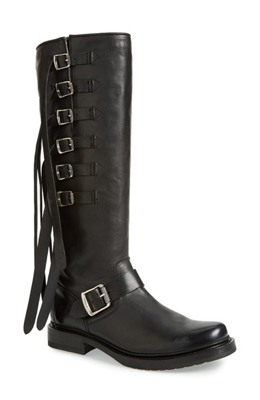 Frye Veronica Buckle Strap Tall Boot In Black Lyst