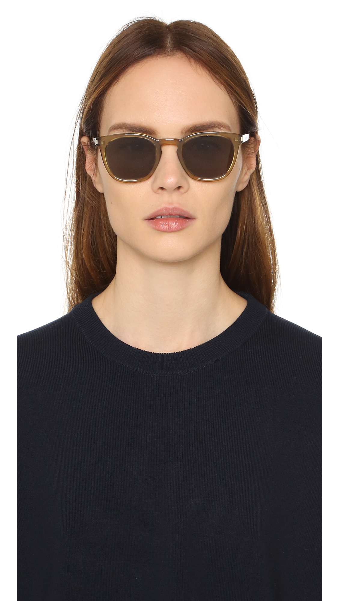 5aa2eac3461 Lyst - Saint Laurent Sl 28 Sunglasses in Green