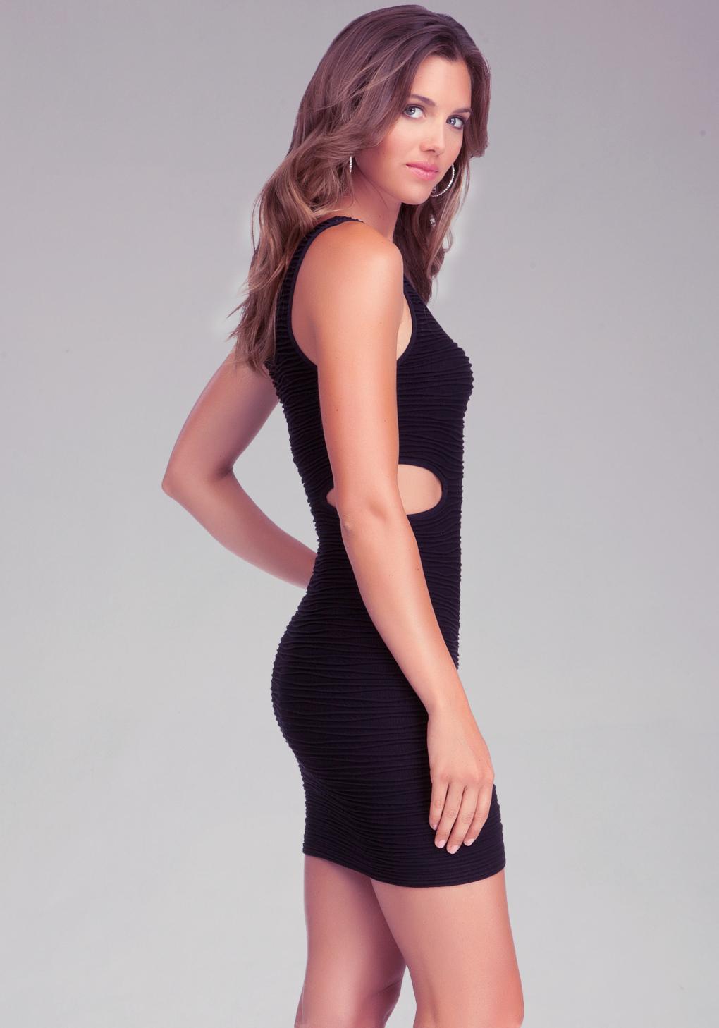 Black cutout dress bebe