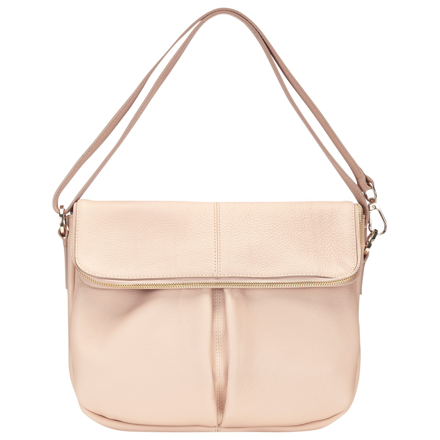 1ffcd36ff7 Whistles Duffy Zip Leather Satchel Bag in Pink - Lyst
