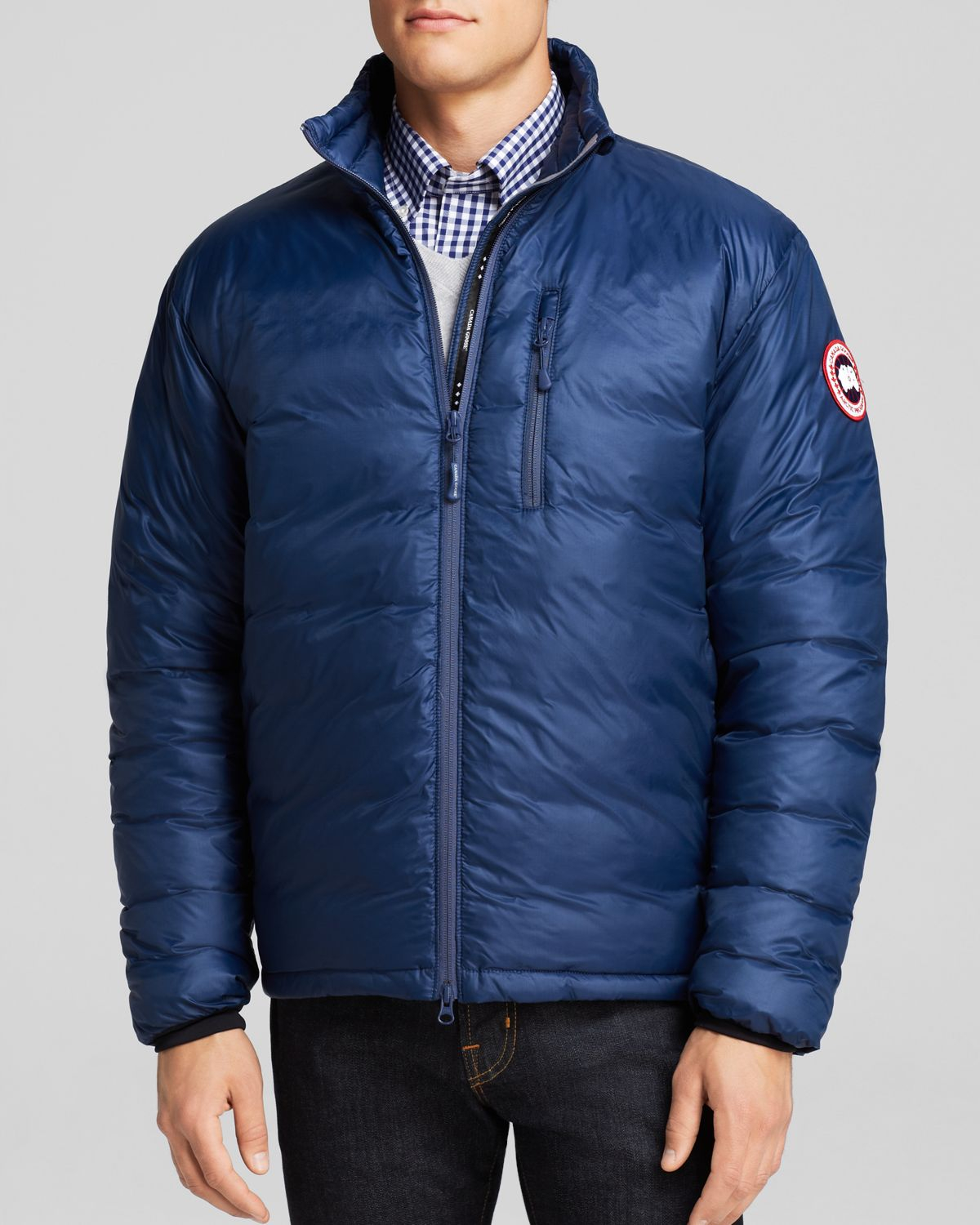 016204fb00e5 ... switzerland lyst canada goose lodge down jacket in blue for men 18e88  62dcb