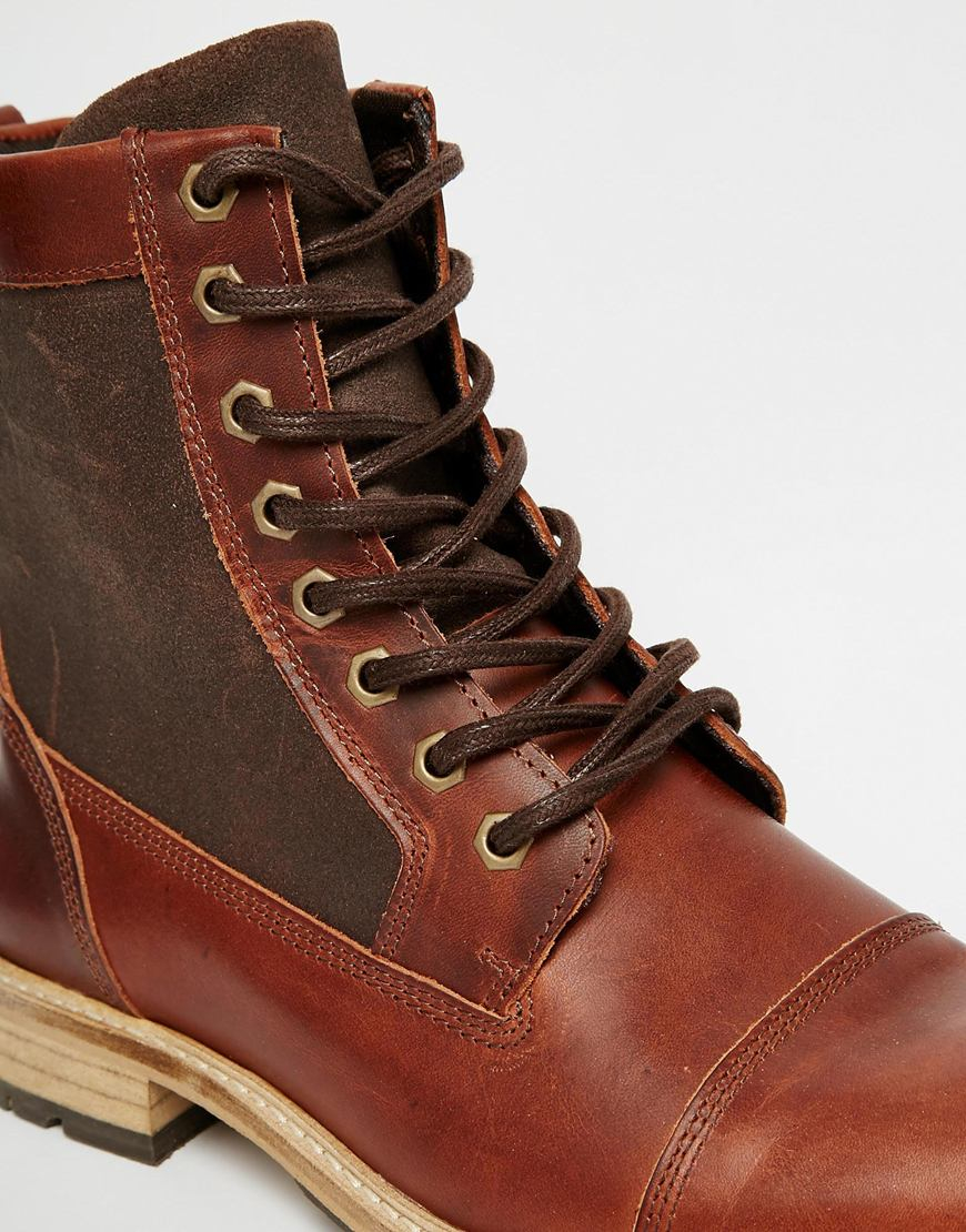 Lyst Aldo Amassa Leather Boots In Brown For Men