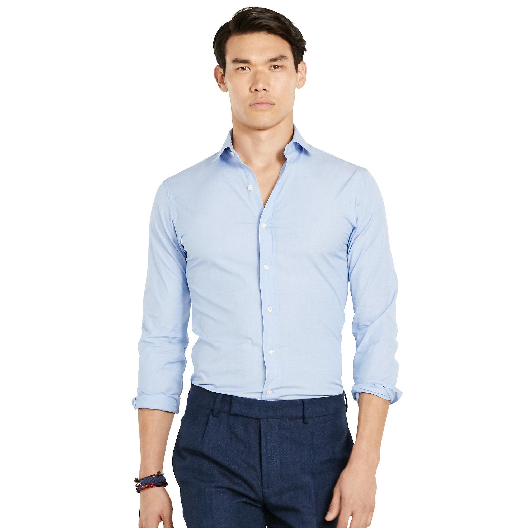 115a8fff9df ... ireland lyst polo ralph lauren estate slim fit stretch shirt in blue  for men 9f7d7 10407