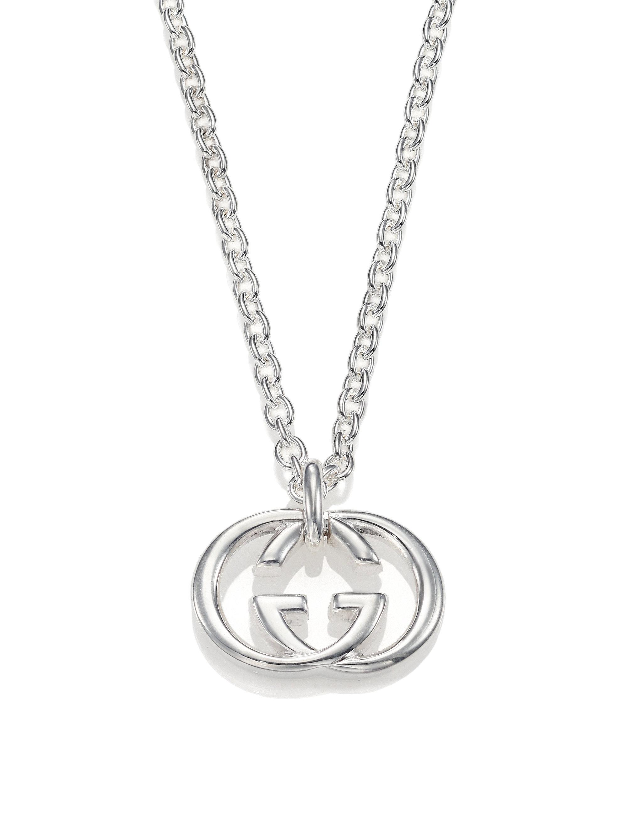 d5abb8e4b3e Lyst - Gucci Gg Silver Pendant Necklace in Metallic for Men