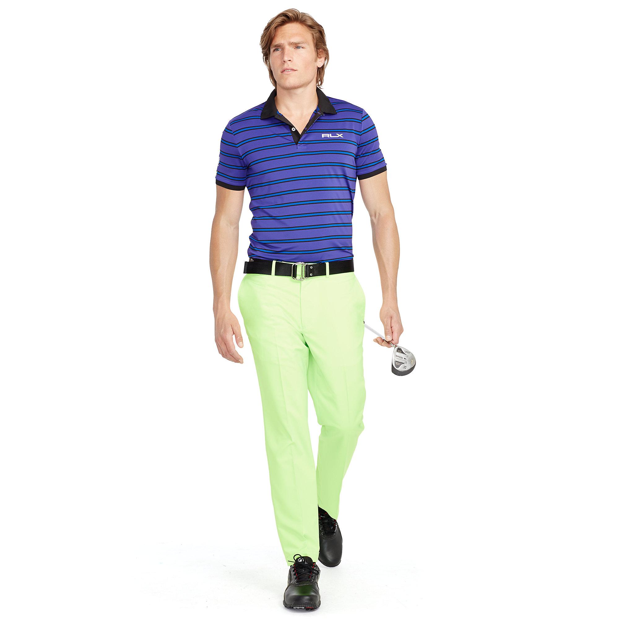 ralph lauren slim fit striped polo shirt in purple for men. Black Bedroom Furniture Sets. Home Design Ideas