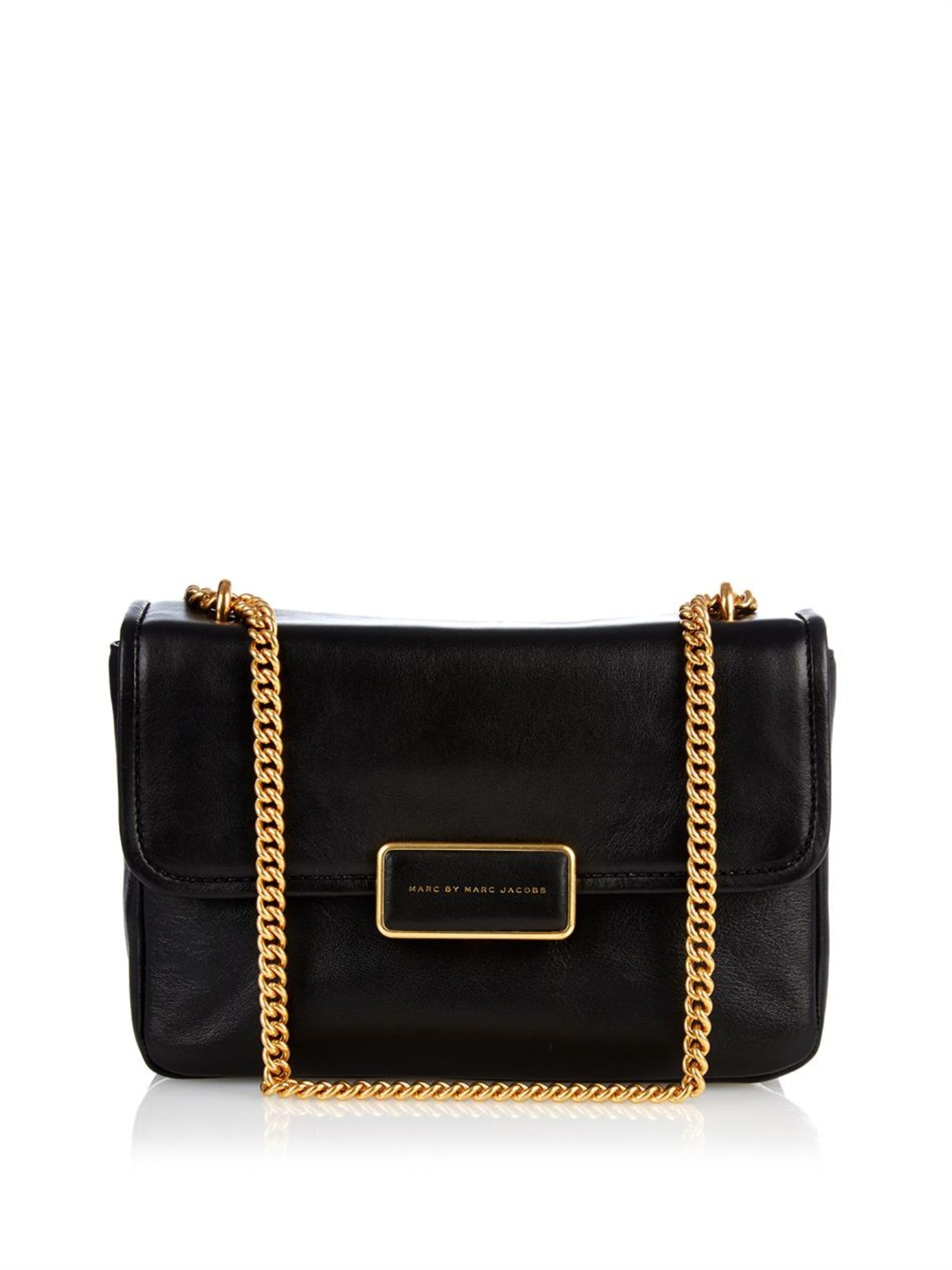 dcc2869fb896 Lyst - Marc By Marc Jacobs Rebel 24 Leather Cross-Body Bag in Black