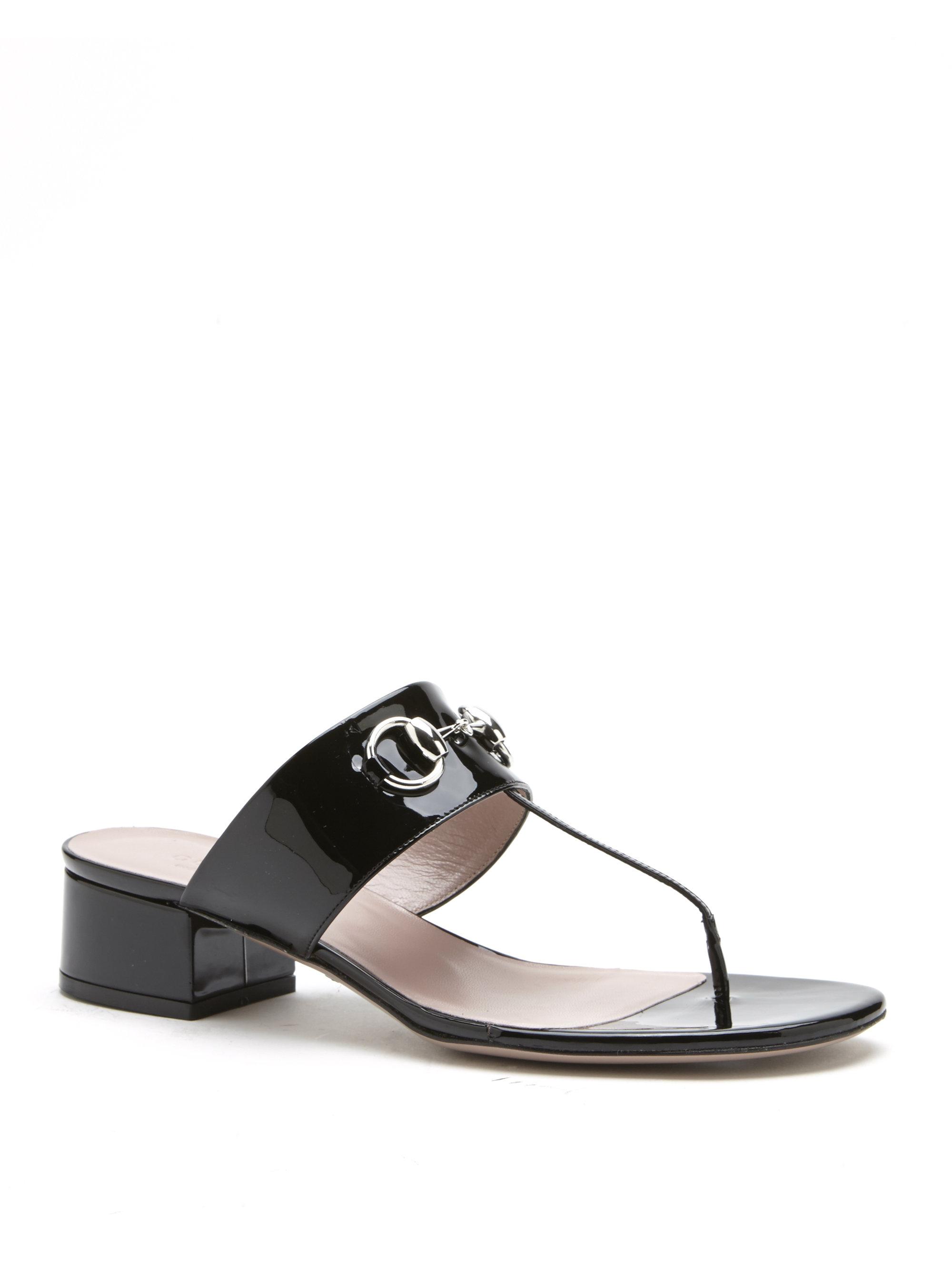 Gucci Pool sandals smooth leather Gem 2WZDa
