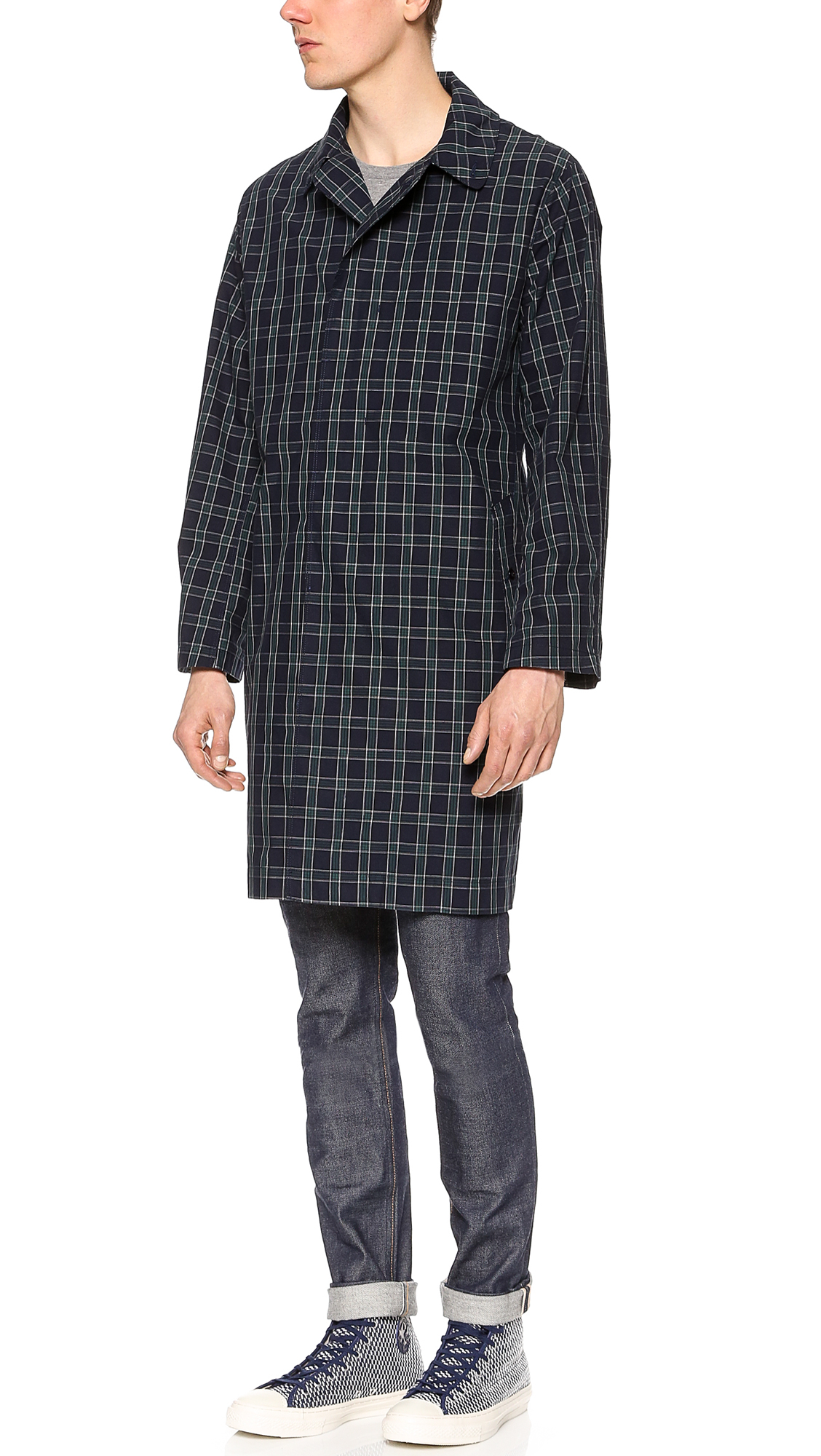 Lyst mark mcnairy new amsterdam balmac jacket in green for Amsterdam products