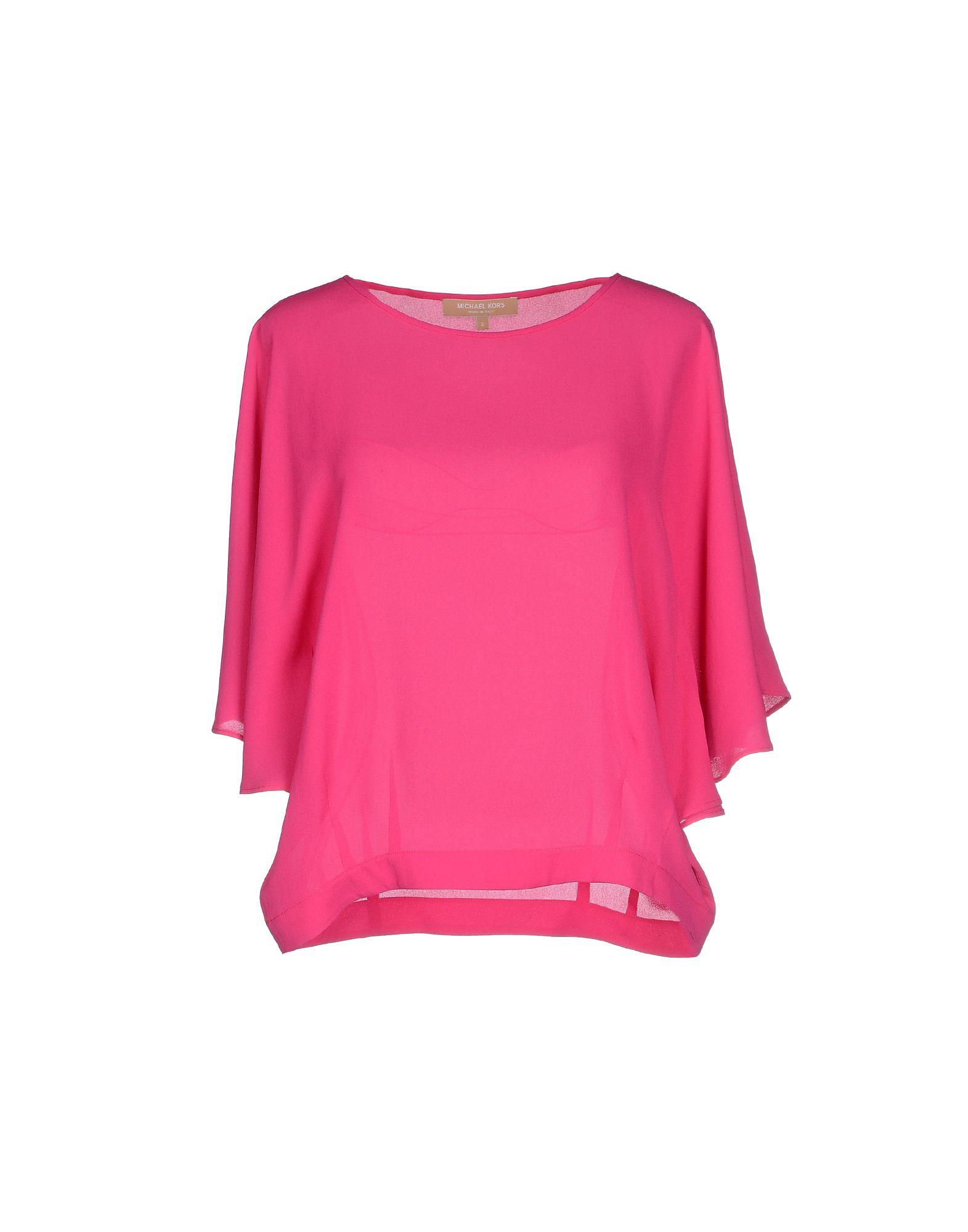 michael kors blouse in pink fuchsia lyst. Black Bedroom Furniture Sets. Home Design Ideas