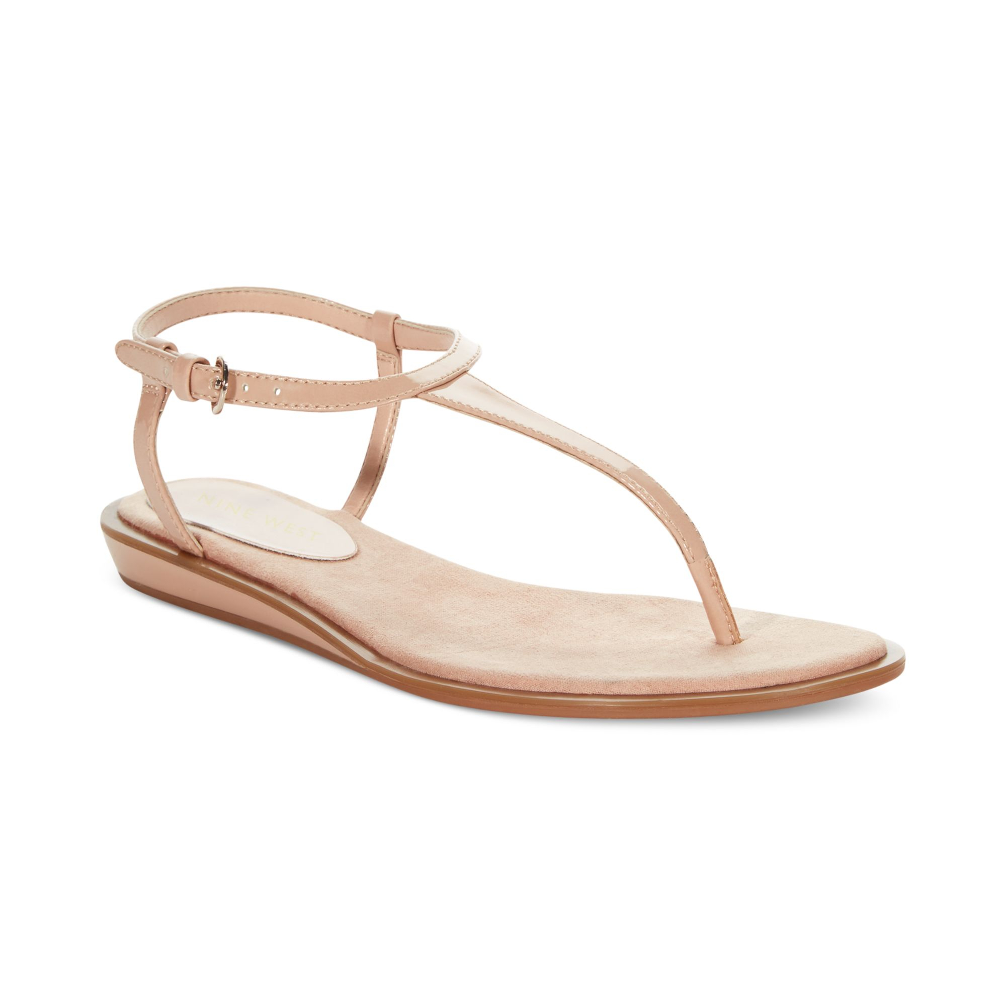 226073f3117c Lyst - Nine West Venga Thong Sandals in Natural