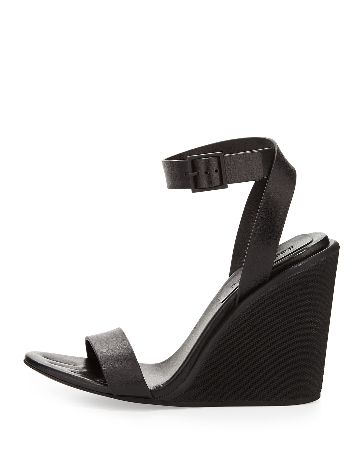 1329e1786efd3 Lyst - See By Chloé Keeni Leather Wedge Sandal in Black