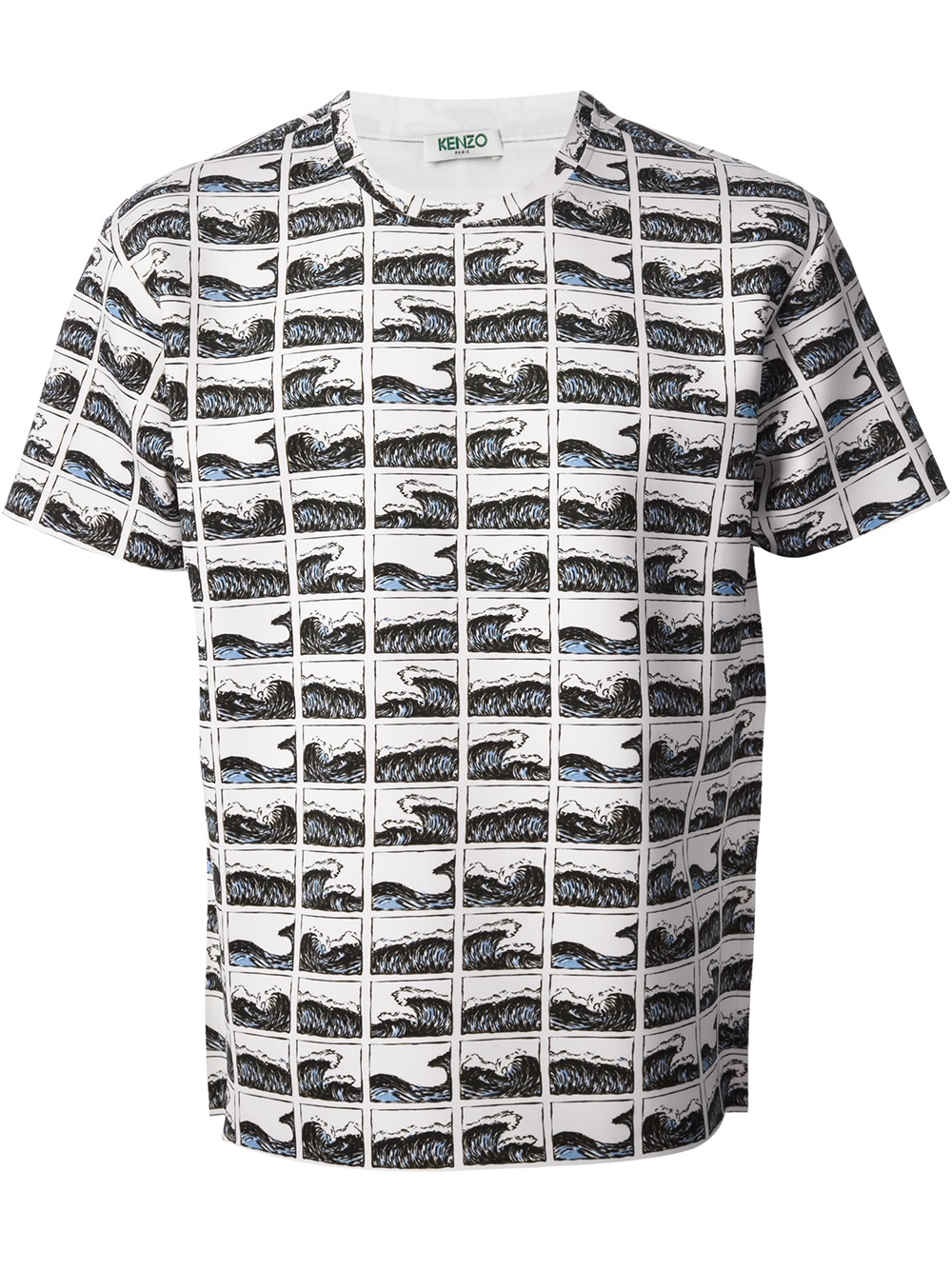 8f4c4a567db8 Kenzo Wave Printed Tshirt in Black for Men - Lyst