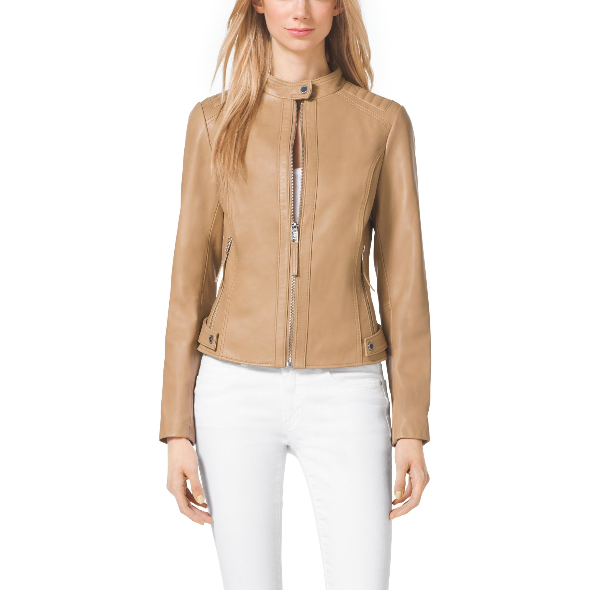 Michael kors womens leather jacket