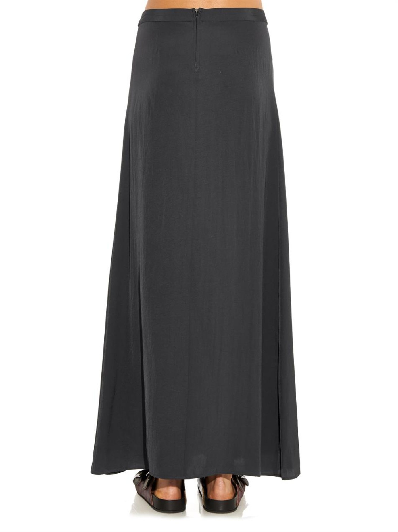 Étoile isabel marant Fleming Maxi Skirt in Gray | Lyst