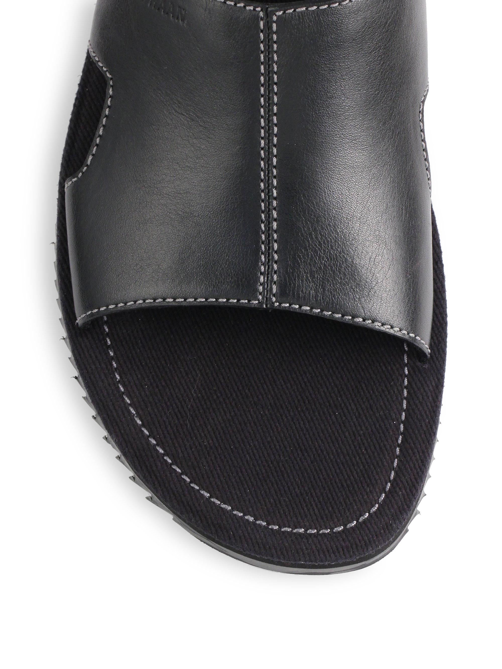 Cole Haan Meyer Slide Sandals In Black For Men Lyst