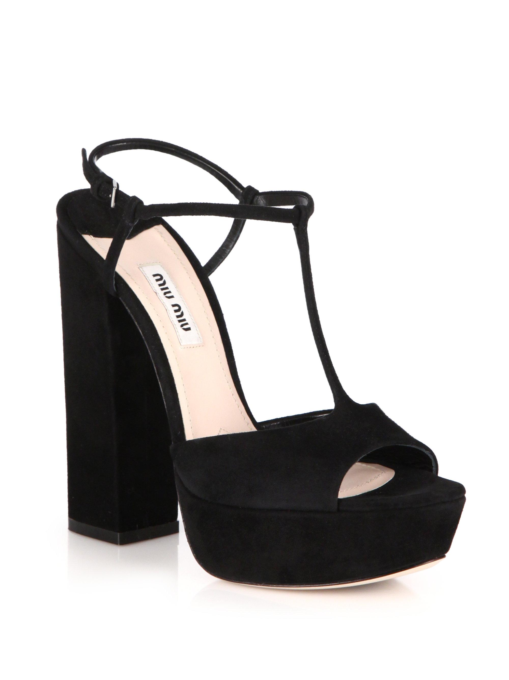 discount wide range of Miu Miu Velvet Platform Sandals w/ Tags huge surprise cheap price WUZ4HbrJ