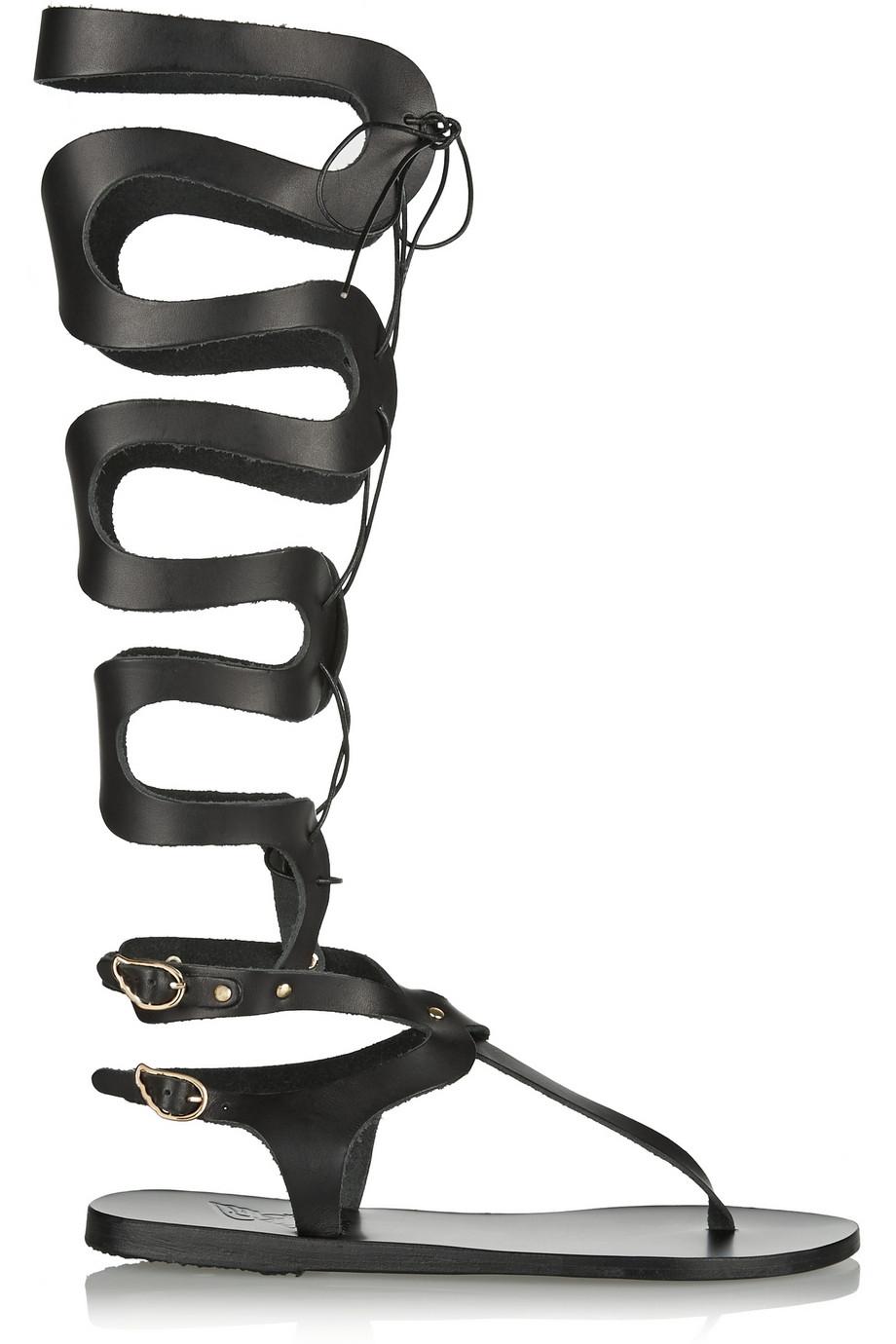 Lyst Ancient Greek Sandals Kori Lace Up Leather