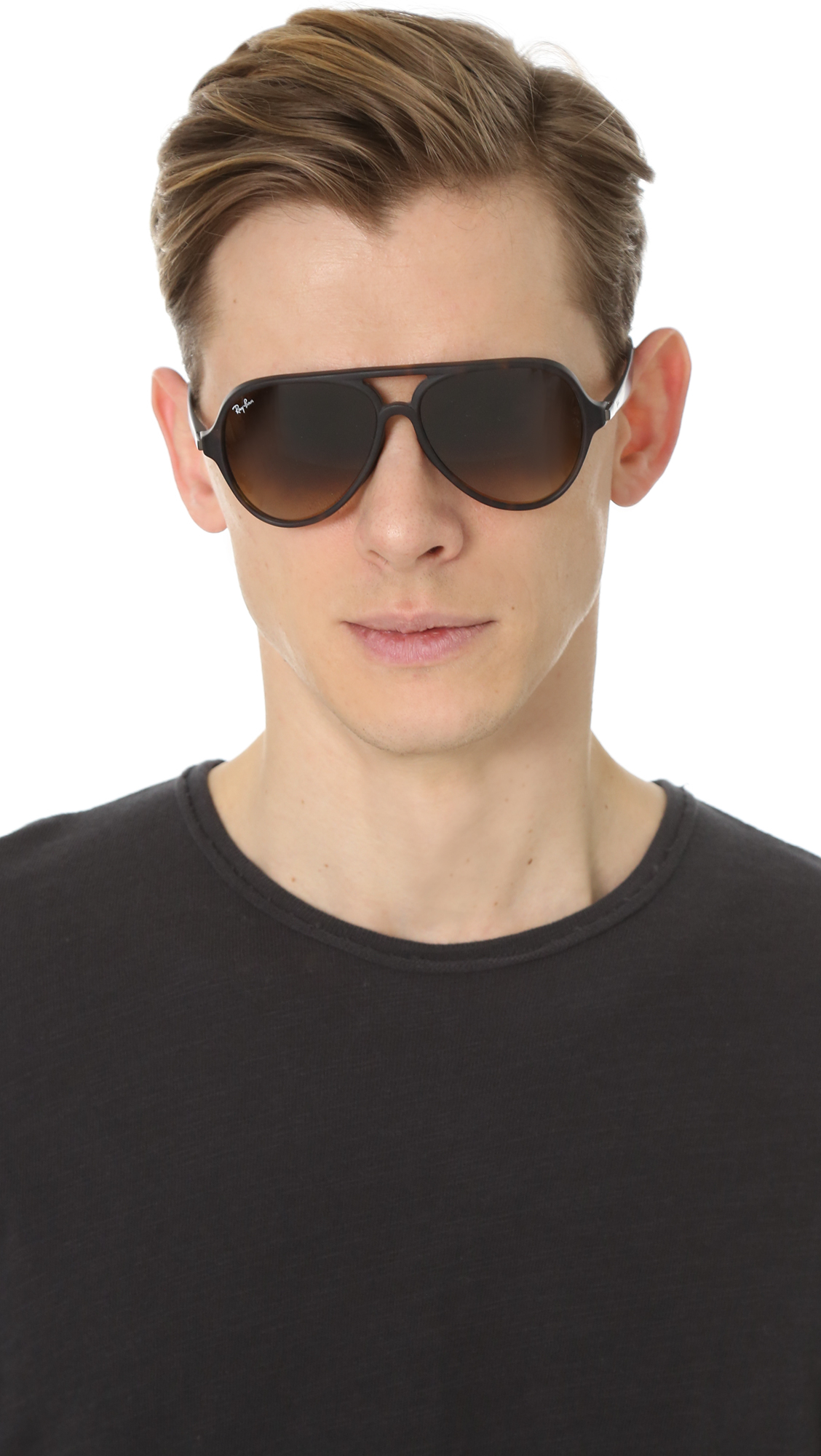 Lyst Ray Ban Full Fit Aviator Sunglasses In Brown For Men