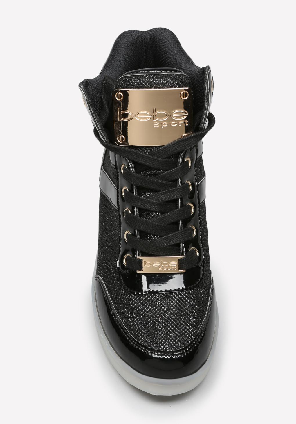 1847ef37d5d Bebe Krysten High Top Sneakers in Black - Lyst